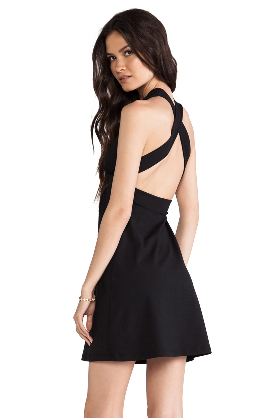 Susana Monaco Nadya Cross Back Dress in Black
