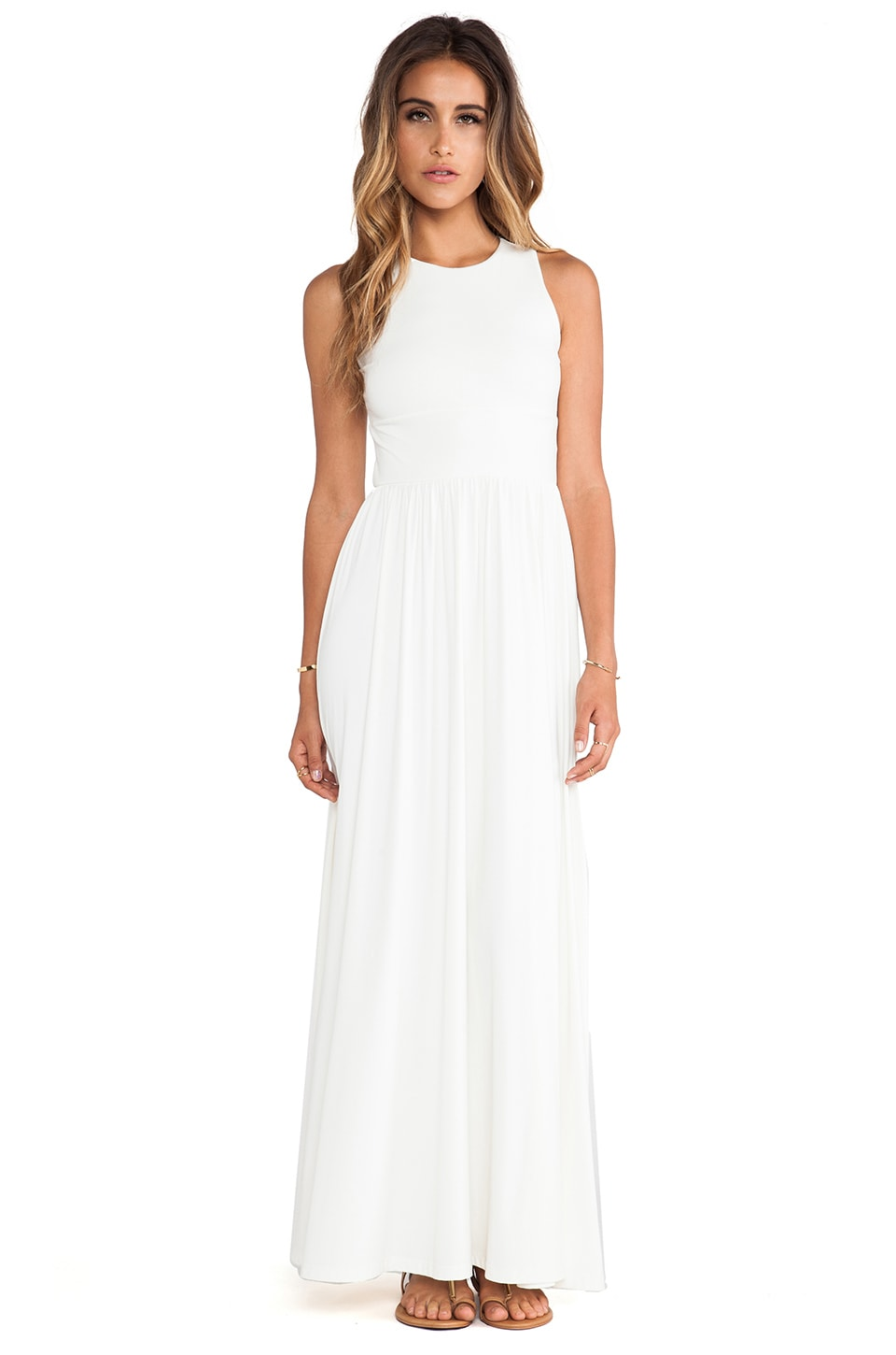 Susana Monaco Blaire Maxi Dress in Meringue