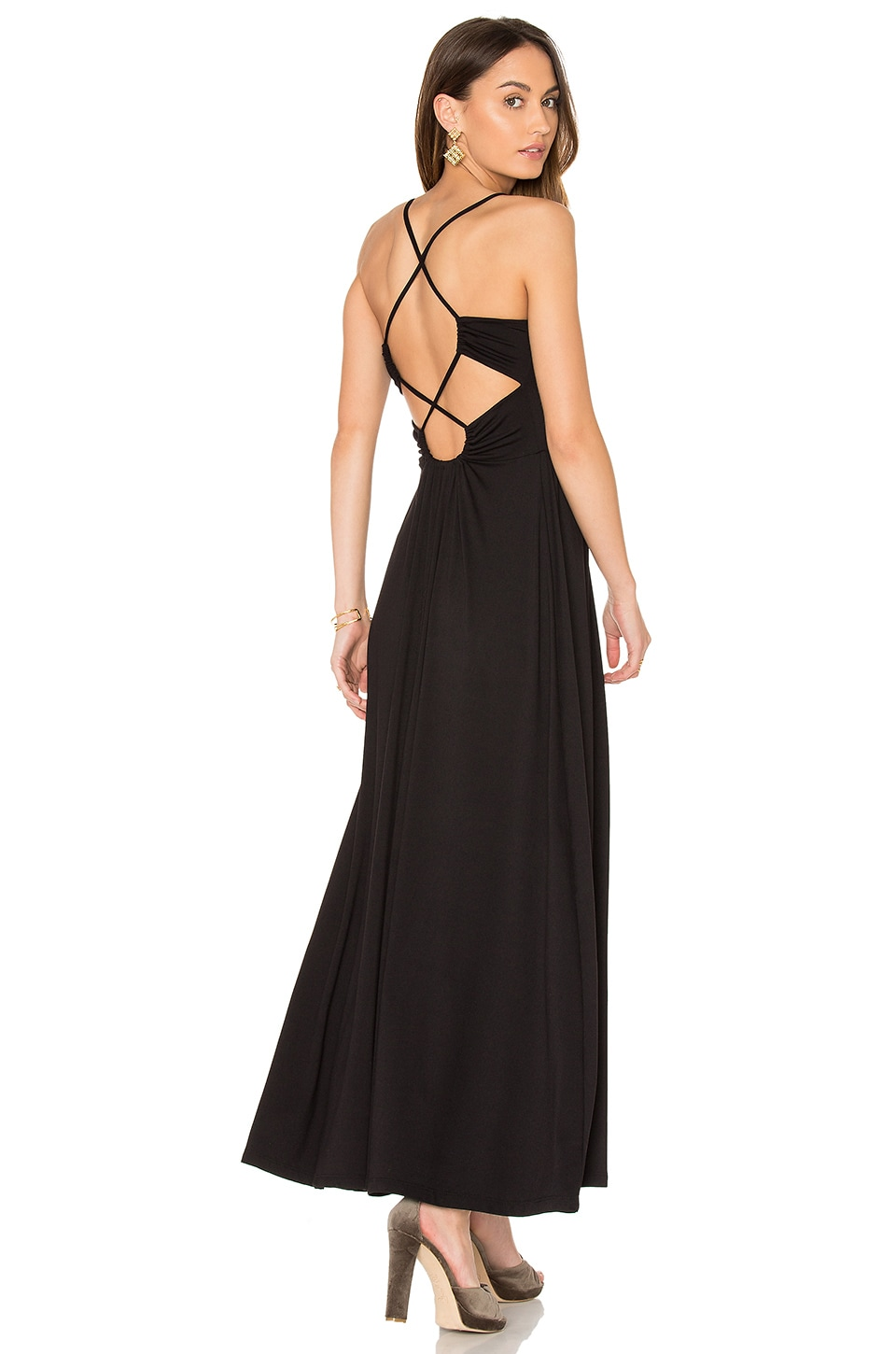 Susana Monaco Phaedra Maxi Dress in Black