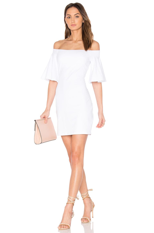 Susana Monaco Flutter Sleeve Dress in Sugar
