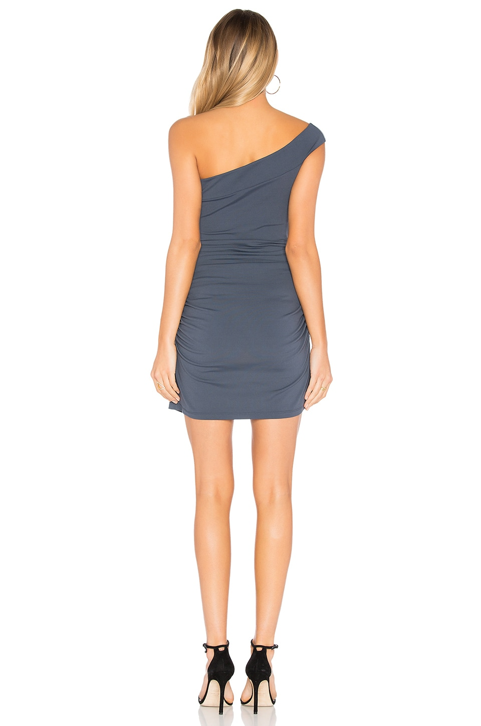 "Susana Monaco Clementine 16"" Mini Dress in Charcoal"