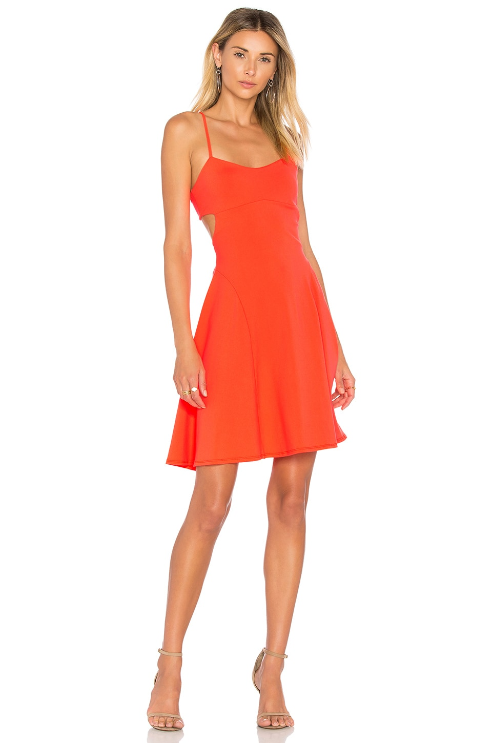 Susana Monaco Jane Dress in Neon Flame