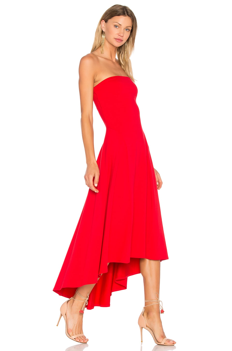 Strapless Hi Low Dress in Red. - size S (also in M,XS) Susana Monaco