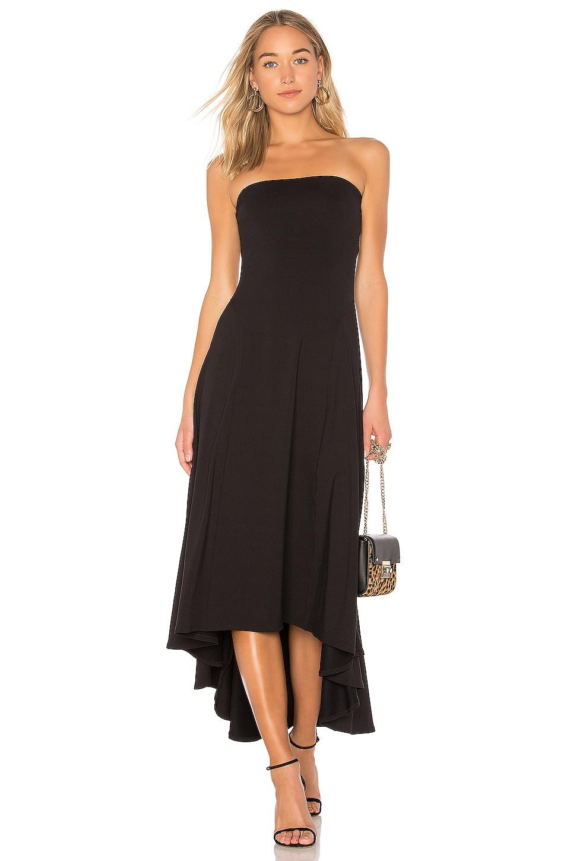 Susana Monaco Strapless Hi Low Dress in Black