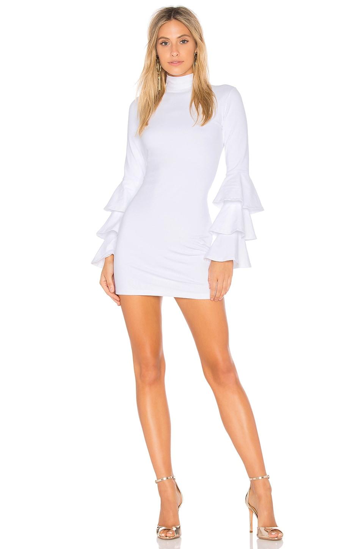 c4264ac97f74 Full Product View. Susana Monaco Layered Ruffle Sleeve Dress in Sugar