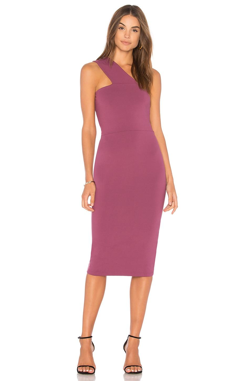 Susana Monaco Wide Strap Dress in Dark Plum