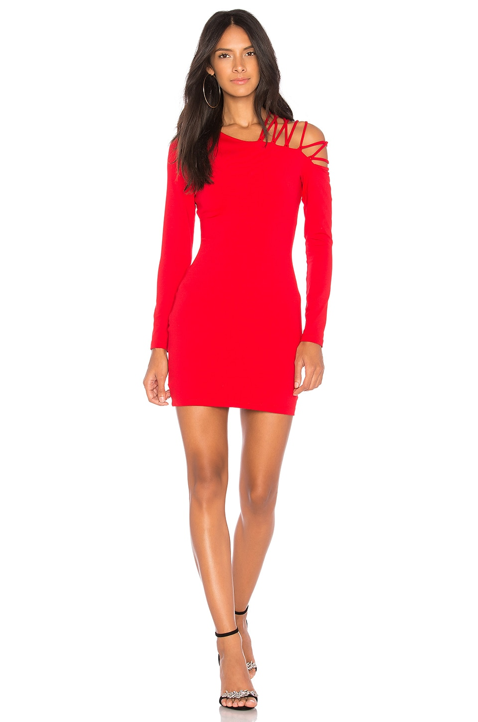 Flutter Sleeve Dress in Red. - size XS (also in S) Susana Monaco AZhnS9