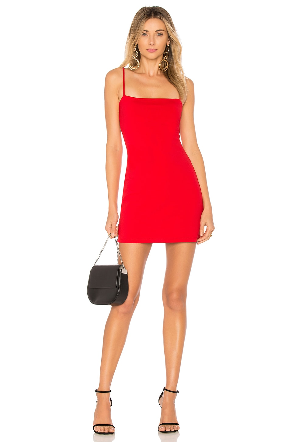 Susana Monaco Thin Strap Mini Dress in Perfect Red