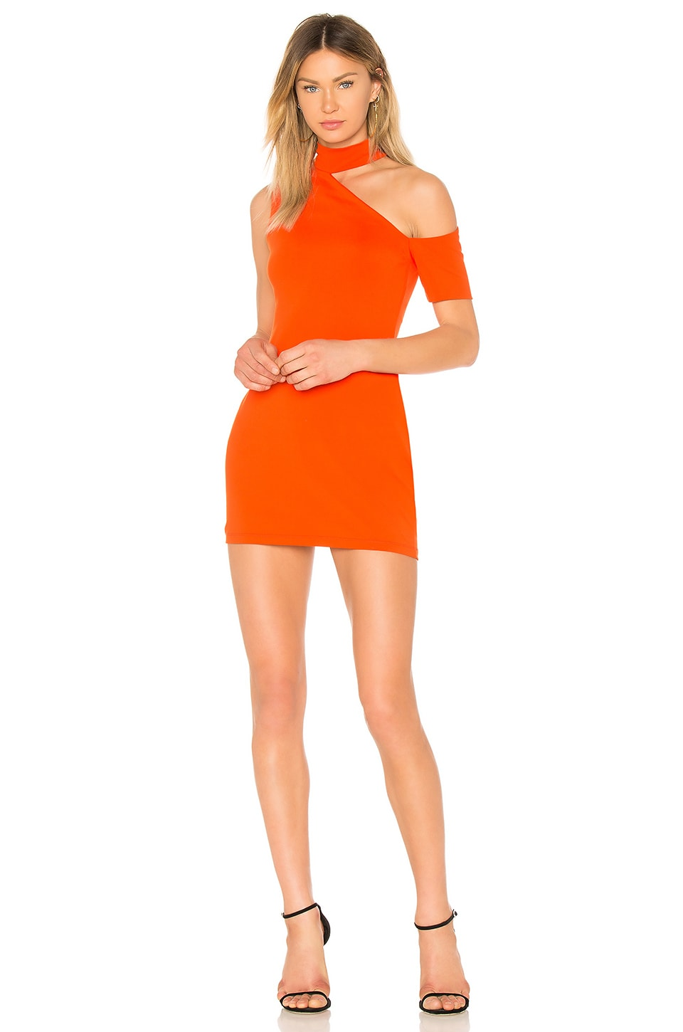 4859ffc9c90e Full Product View. Susana Monaco Cut Out Shoulder Dress in Sunset