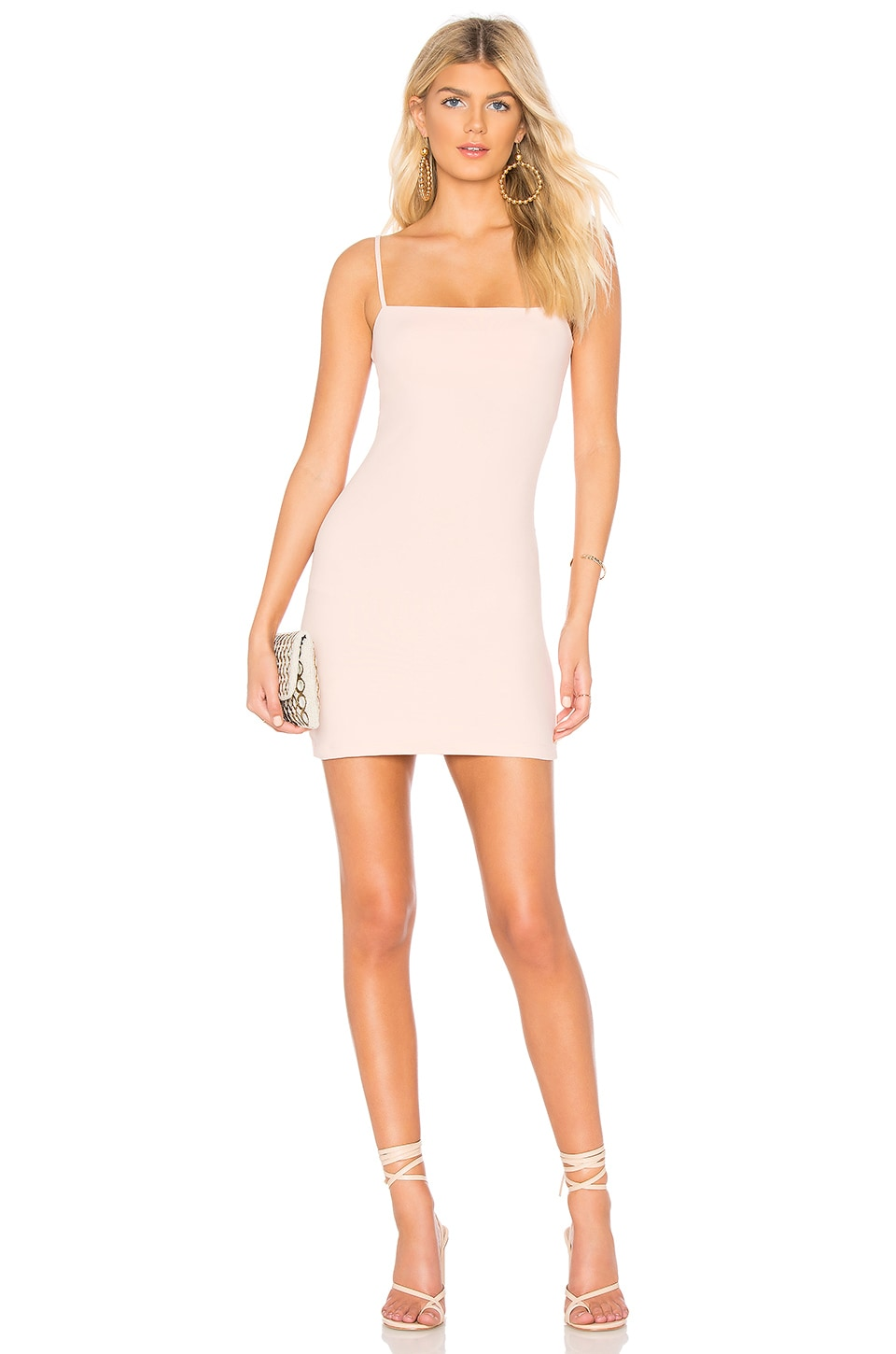 Susana Monaco Thin Strap Mini Dress in Pink Sand