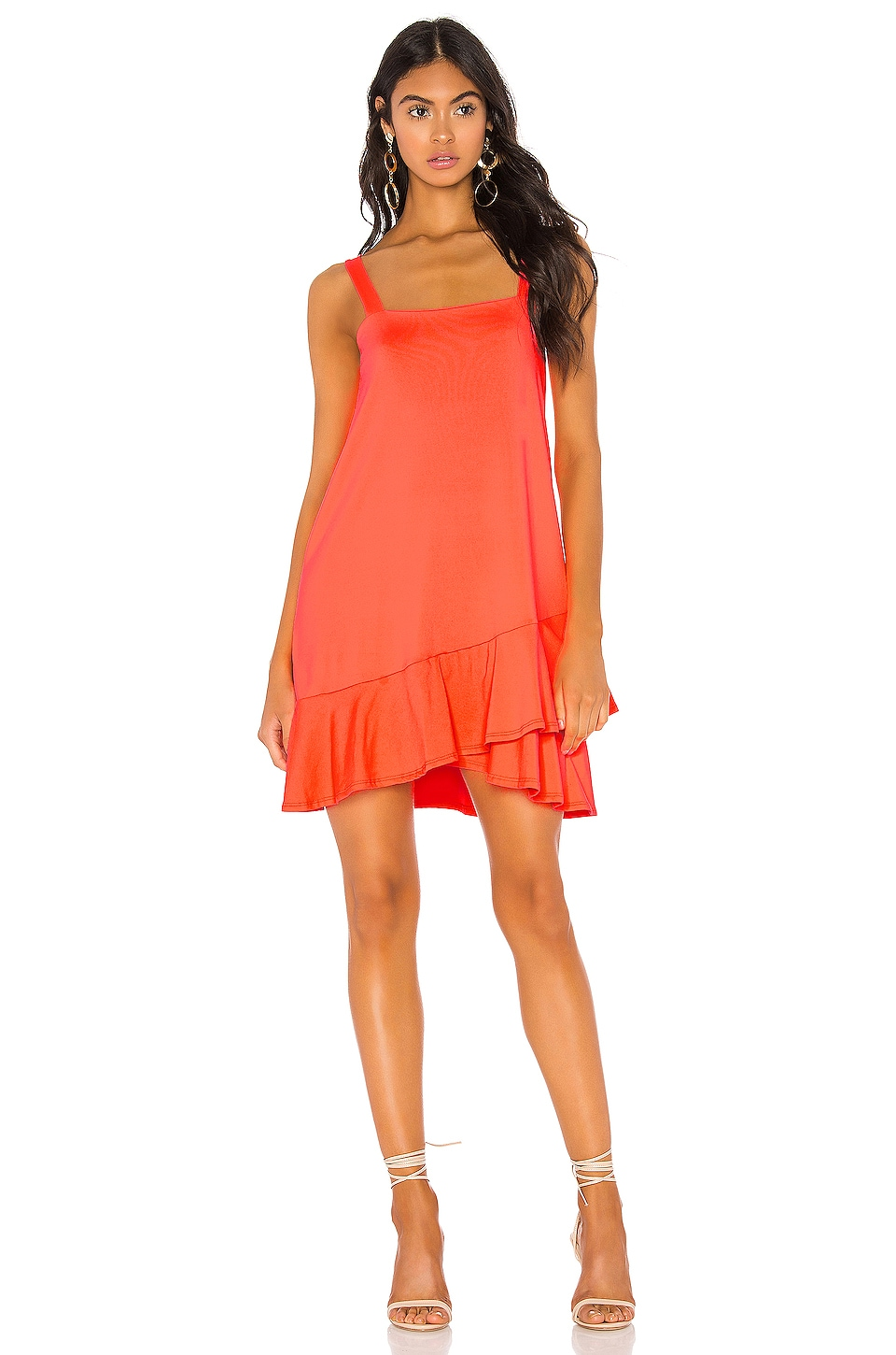 Susana Monaco VESTIDO CROSSOVER RUFFLE WIDE STRAP DRESS