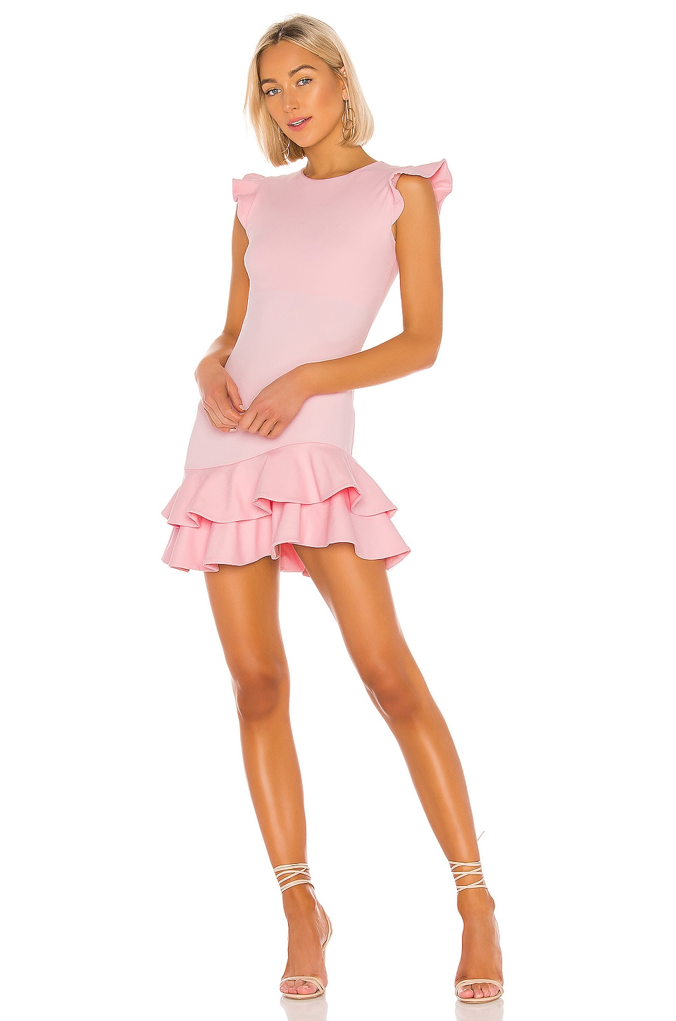 Susana Monaco Sleeveless Ruffle Hem Dress in Tutu