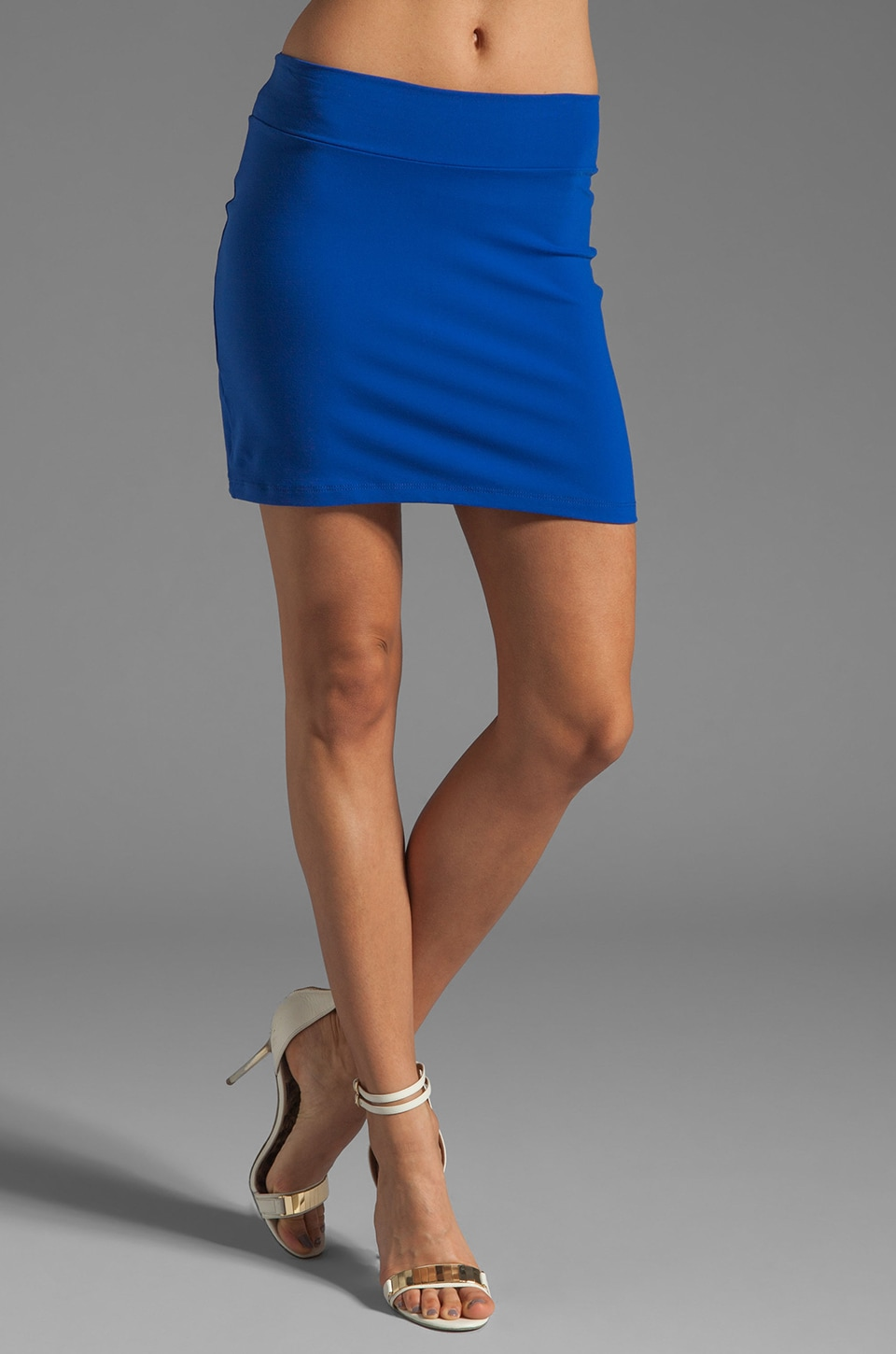 Susana Monaco Slim Skirt in Lapis