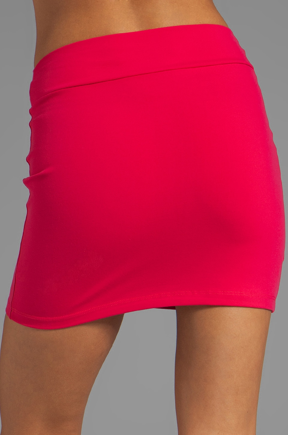"Susana Monaco Slim Skirt 16"" in Hibiscus"