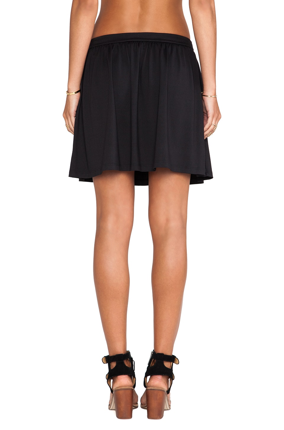 "Susana Monaco Light Supplex Flair Skirt 17"" in Black"