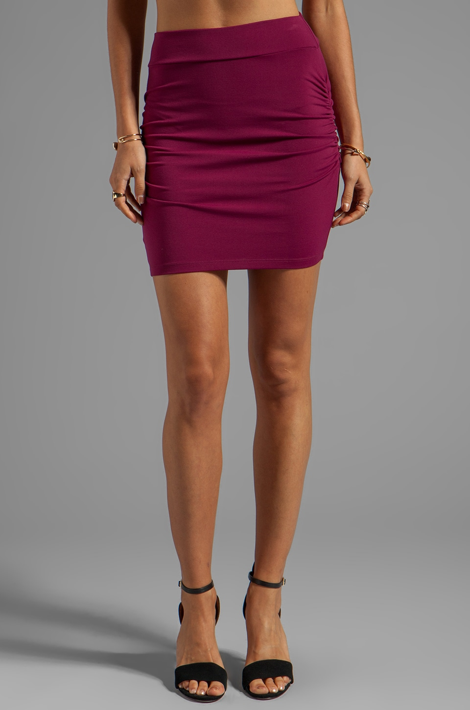 Susana Monaco Light Supplex Rouched Skirt 18