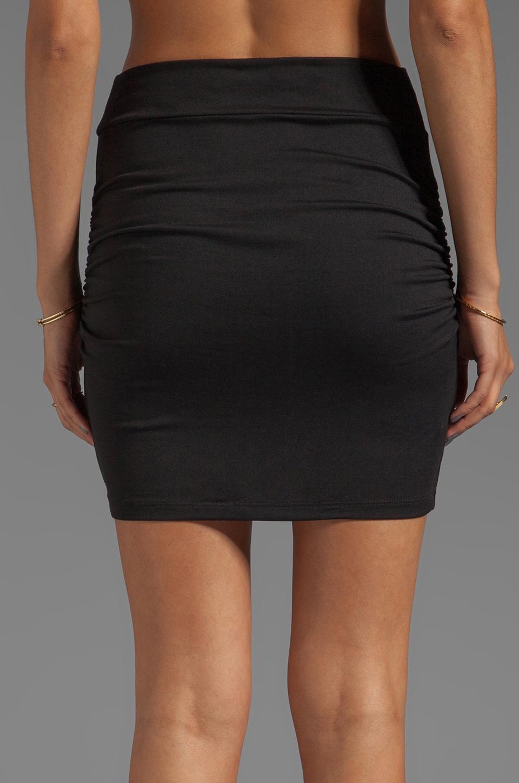 "Susana Monaco Light Supplex Rouched 18"" Skirt in Black"
