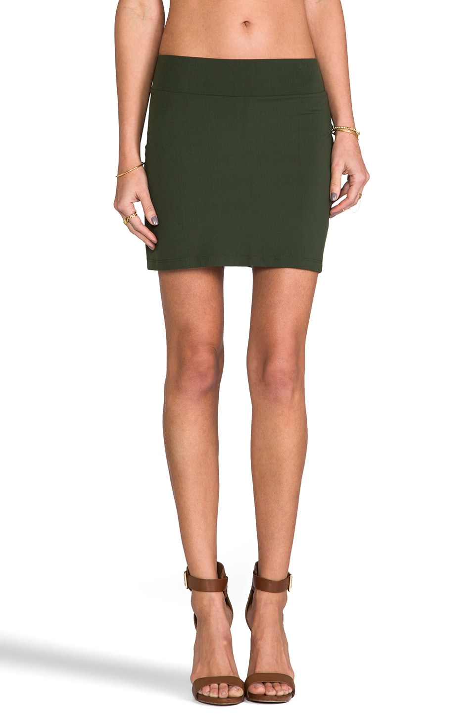 Susana Monaco Slim Skirt in Caper