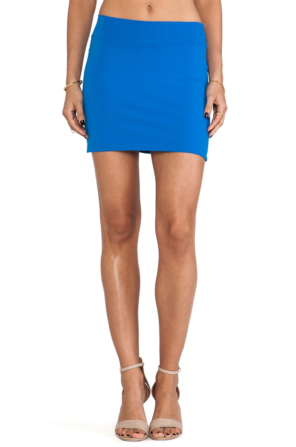Susana Monaco Slim Skirt in Blueberry