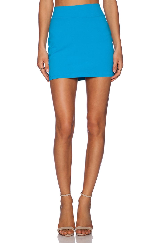 Susana Monaco Slim Skirt in Aquamarine