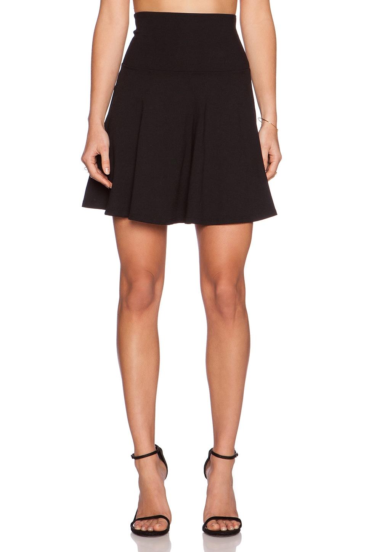 07abc25cbf Susana Monaco High Waist Flare Skirt in Black   REVOLVE