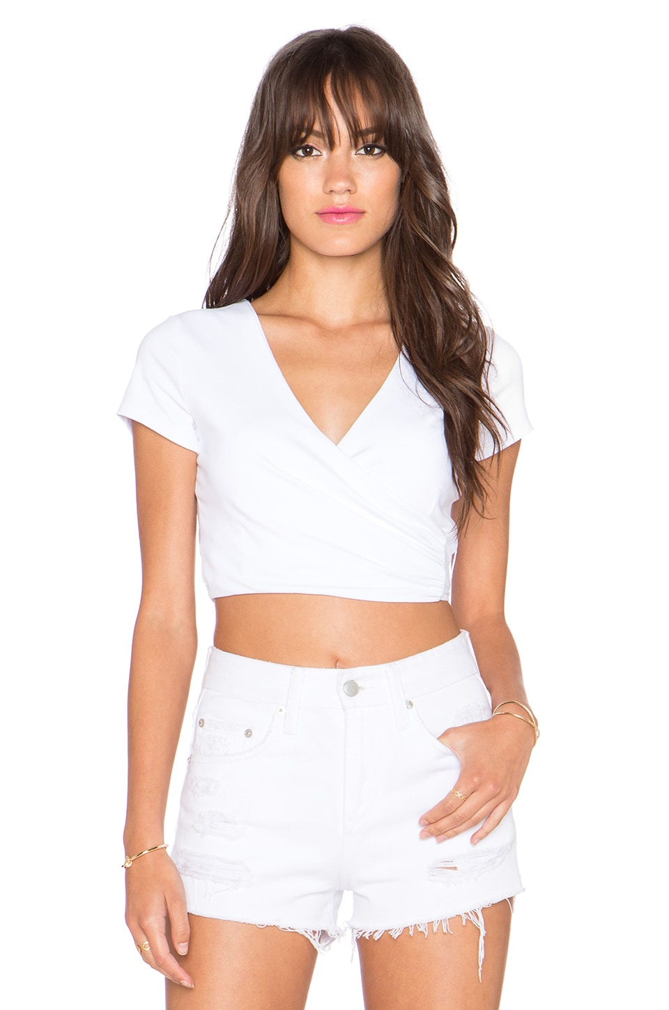 Susana Monaco Wrap Crop Top in Sugar