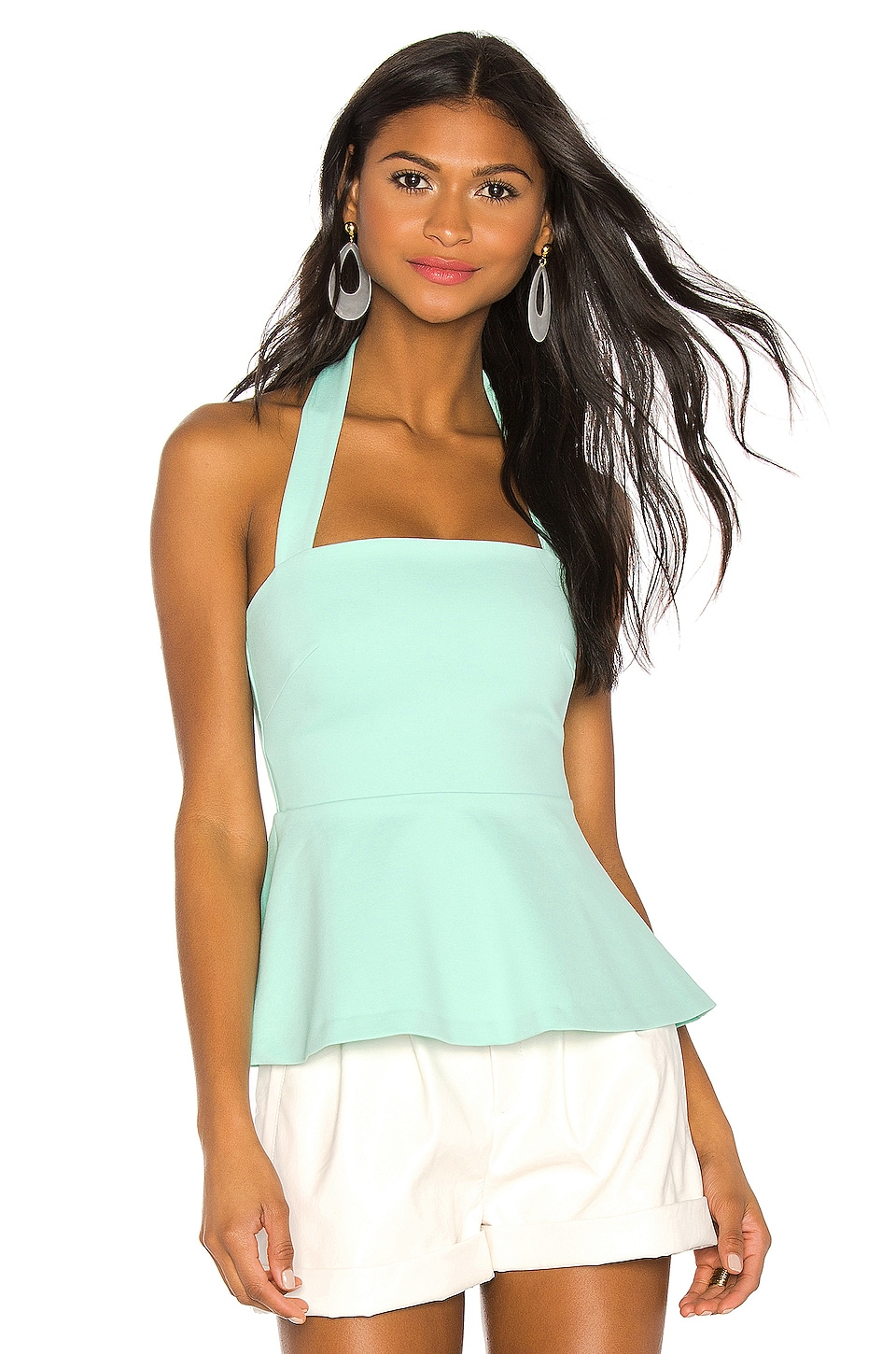 Susana Monaco Flared Halter Top in Lovebird