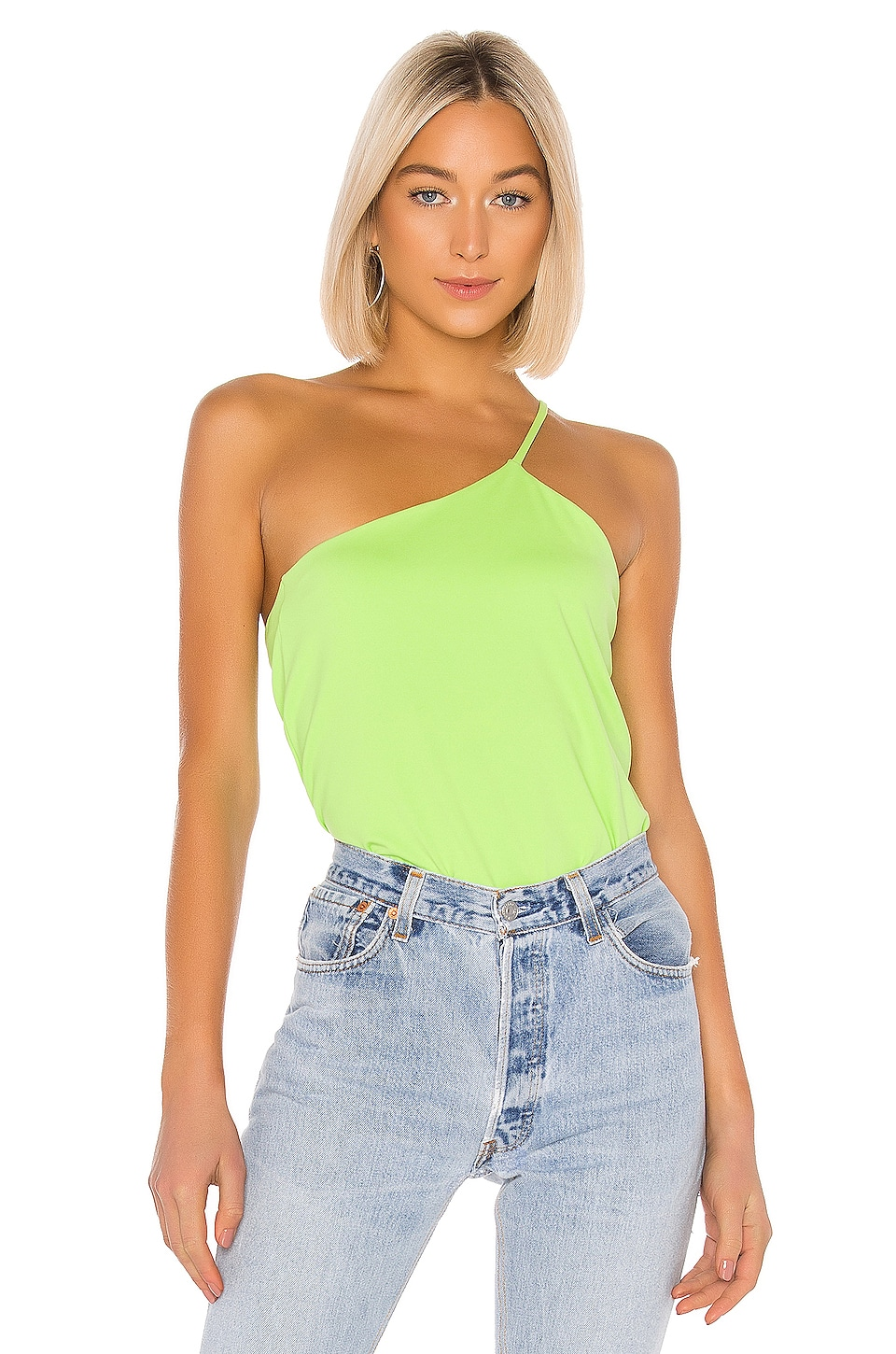 Susana Monaco Thin Strap Crossover Top in Limelight