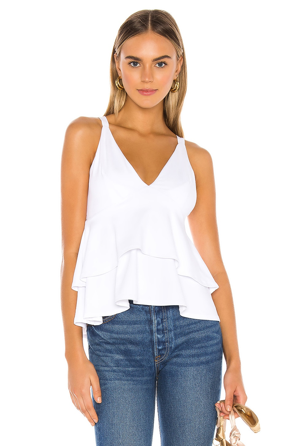 Susana Monaco Triangle Double Layer Top in Sugar