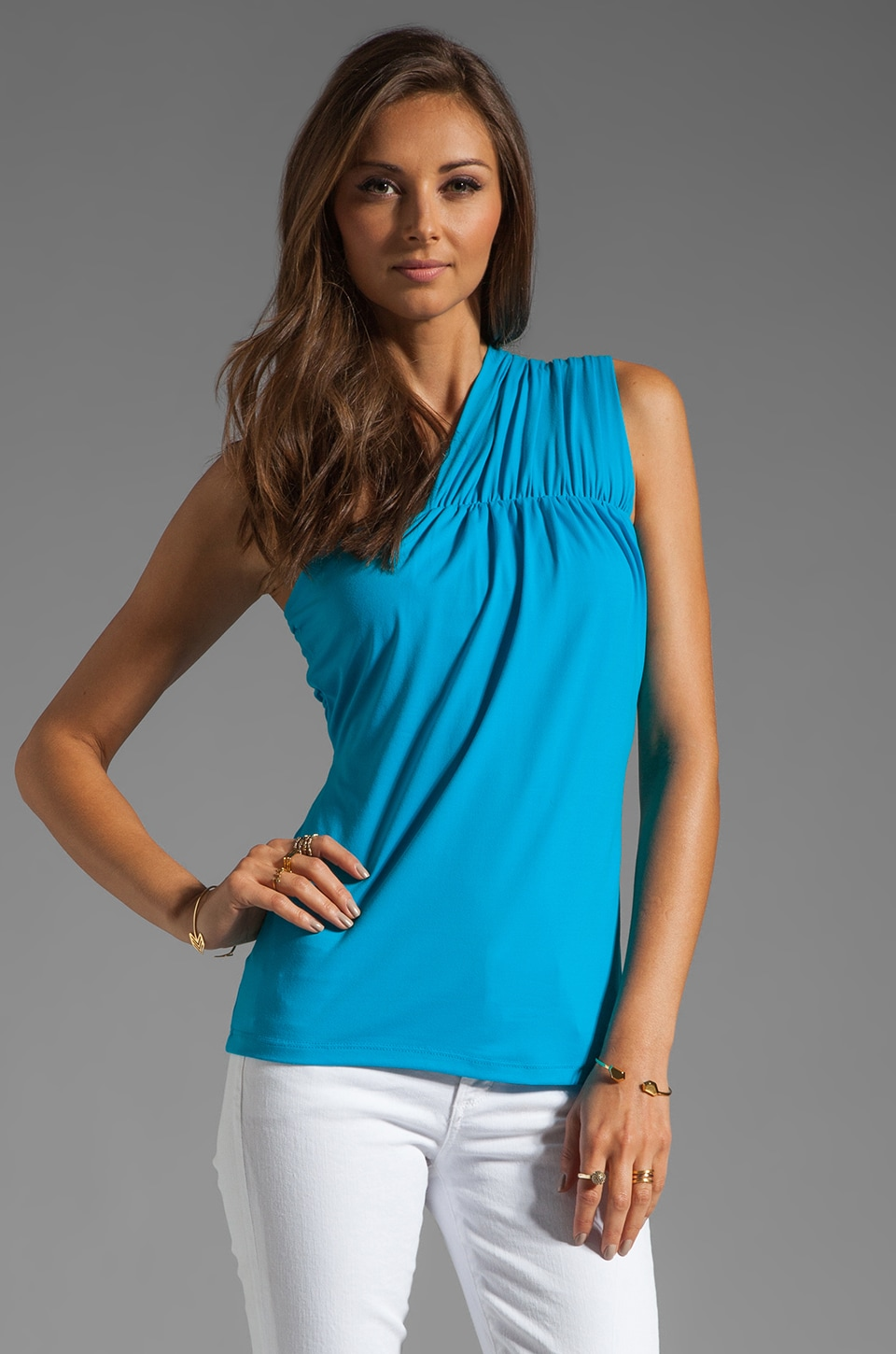 Susana Monaco Light Supplex Sarah Top in Atomic Blue