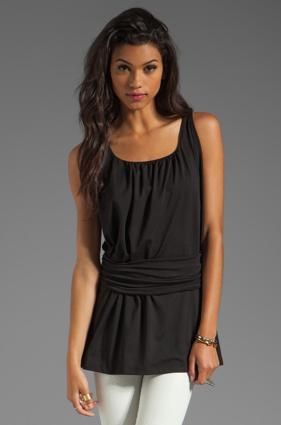Susana Monaco Light Supplex Kato Tank in Black