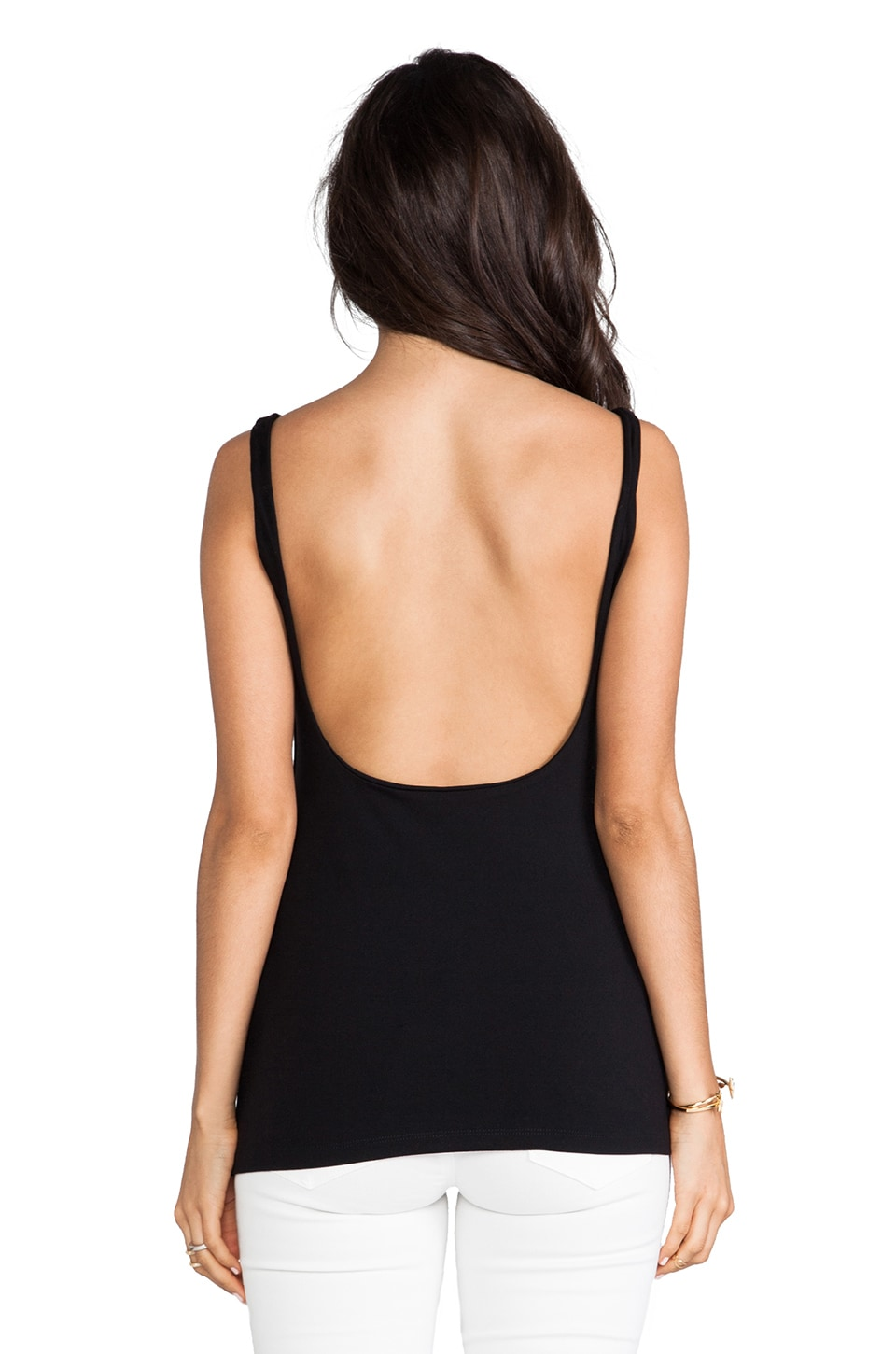 "Susana Monaco Low Back 11"" Tank in Black"