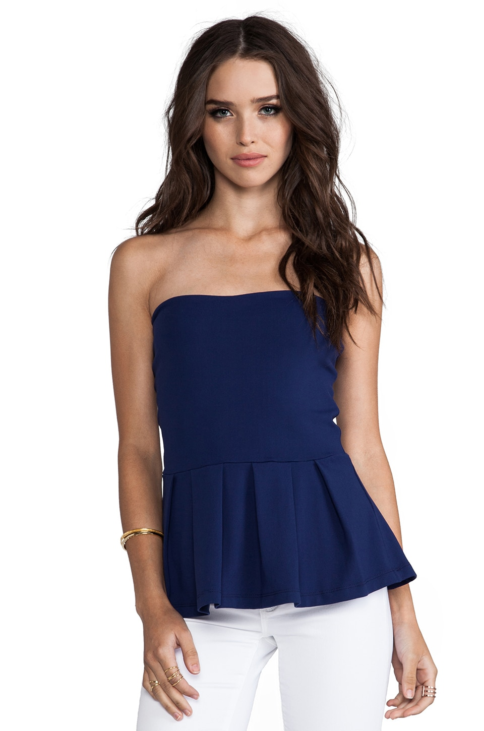 Susana Monaco Strapless Leila Top in Inkwell