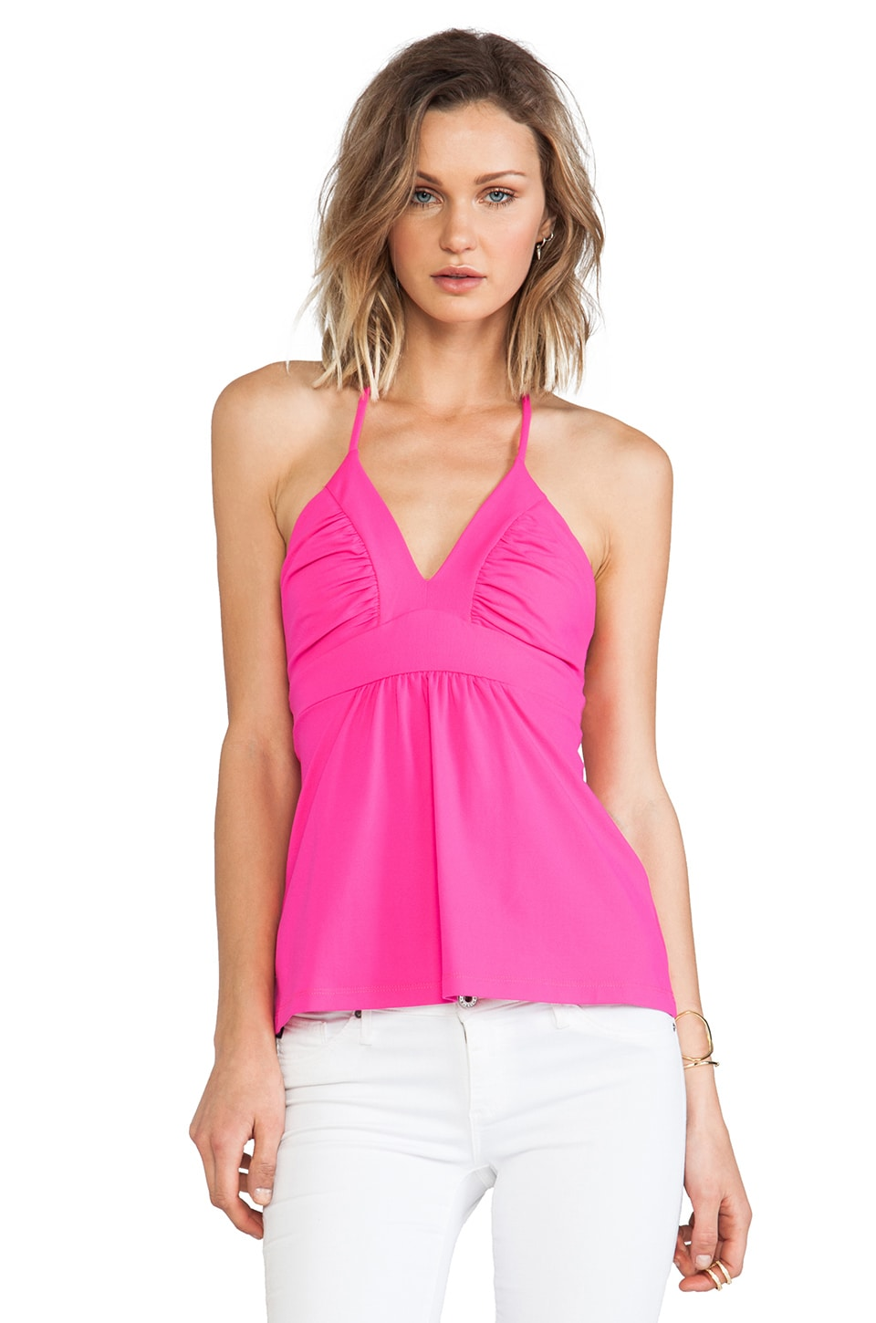 Susana Monaco Gather String Halter Top in Pink Glo