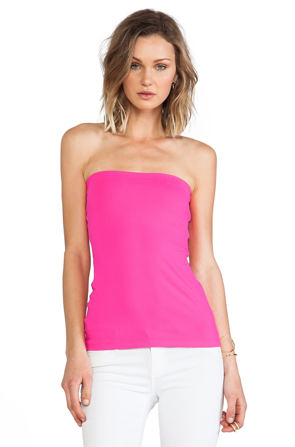 Susana Monaco Tube Top in Pink Glo