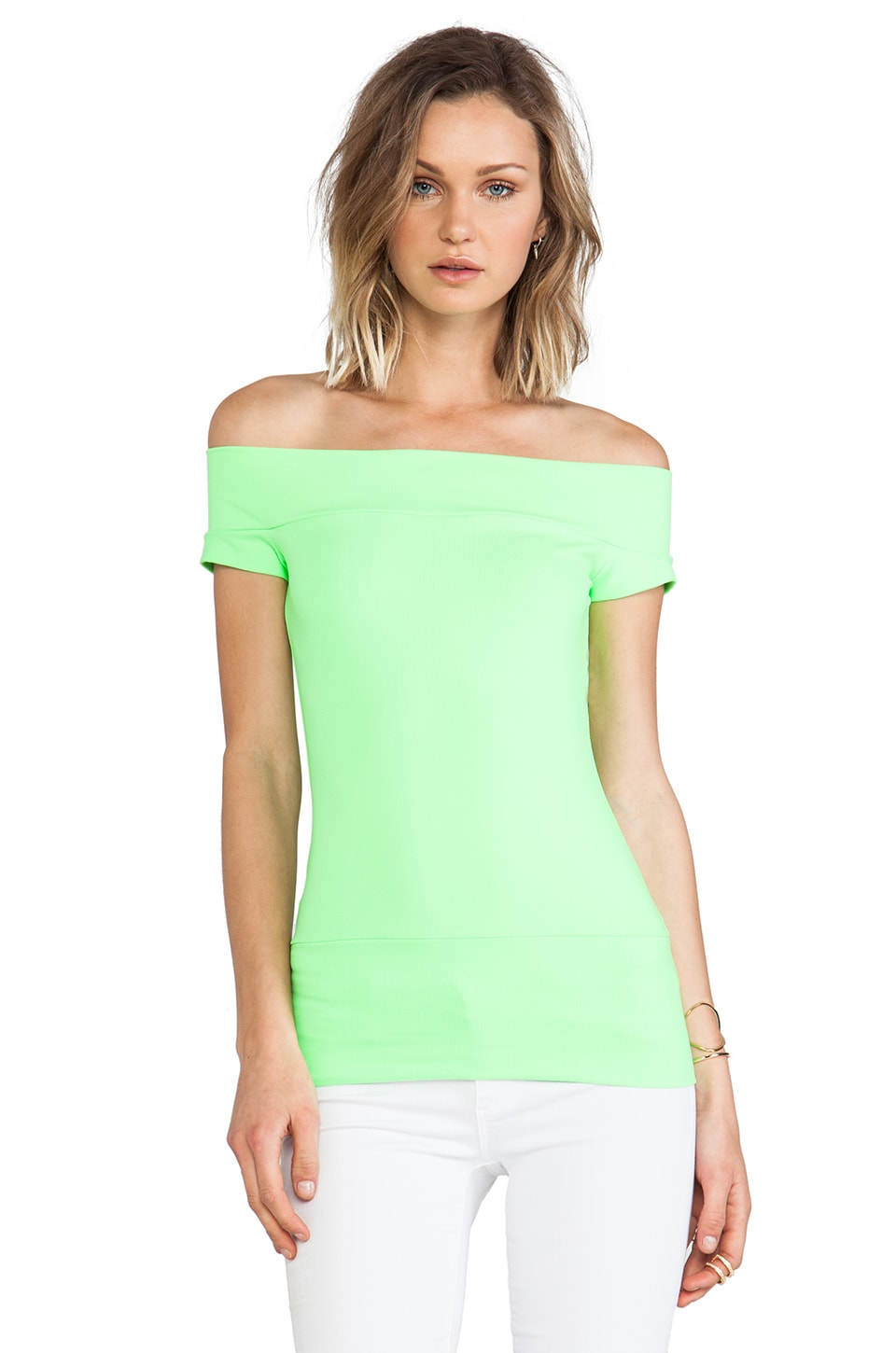 Susana Monaco Off the Shoulder Top in Luminous