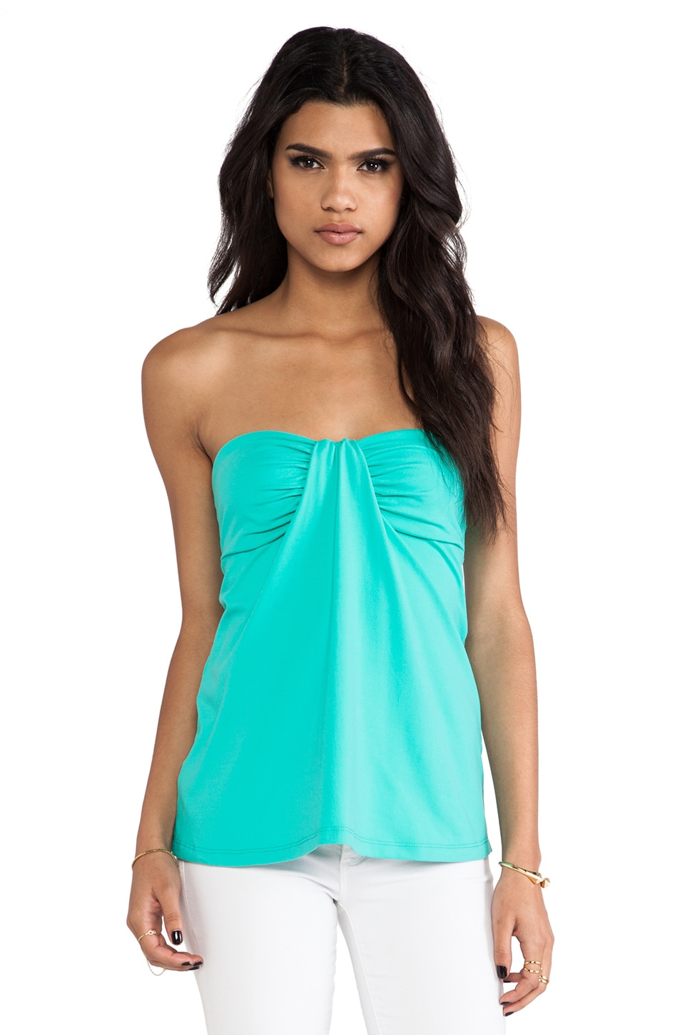 Susana Monaco Kai Strapless Top in Beach Glass