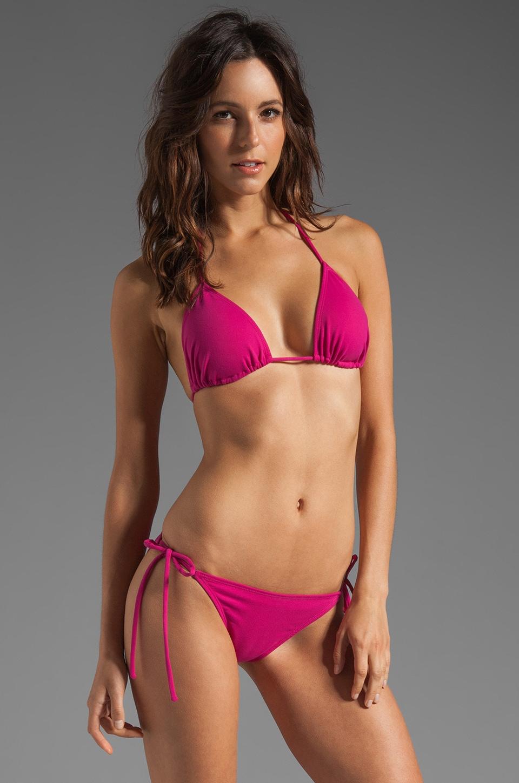 Susana Monaco Tie String Bikini Top in Fuchsia