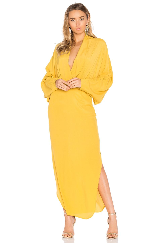 1549c08f83d77 SWF Gwenyth Dress in Mustard | REVOLVE
