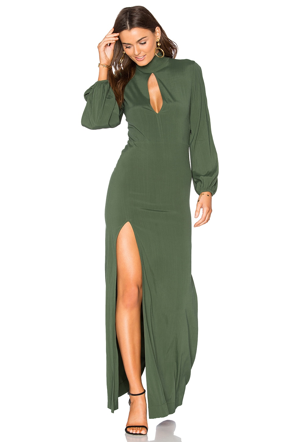 SWF Evelyn Dress in Pine Green