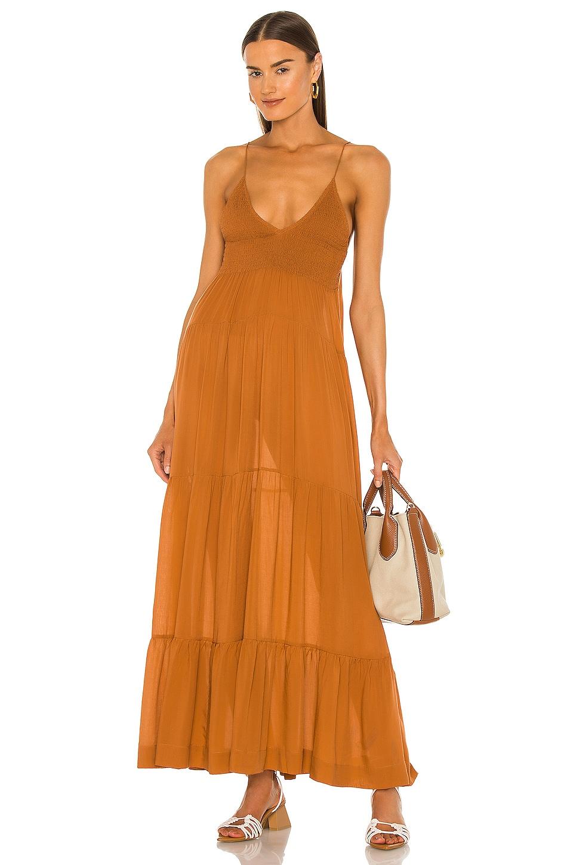SWF Shirred Maxi Dress in Cabin