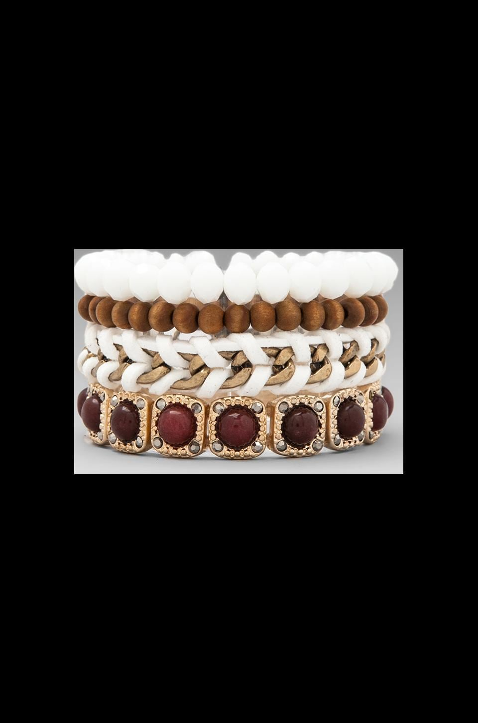 Samantha Wills All Of The Lights Bracelet Set in Burgundy