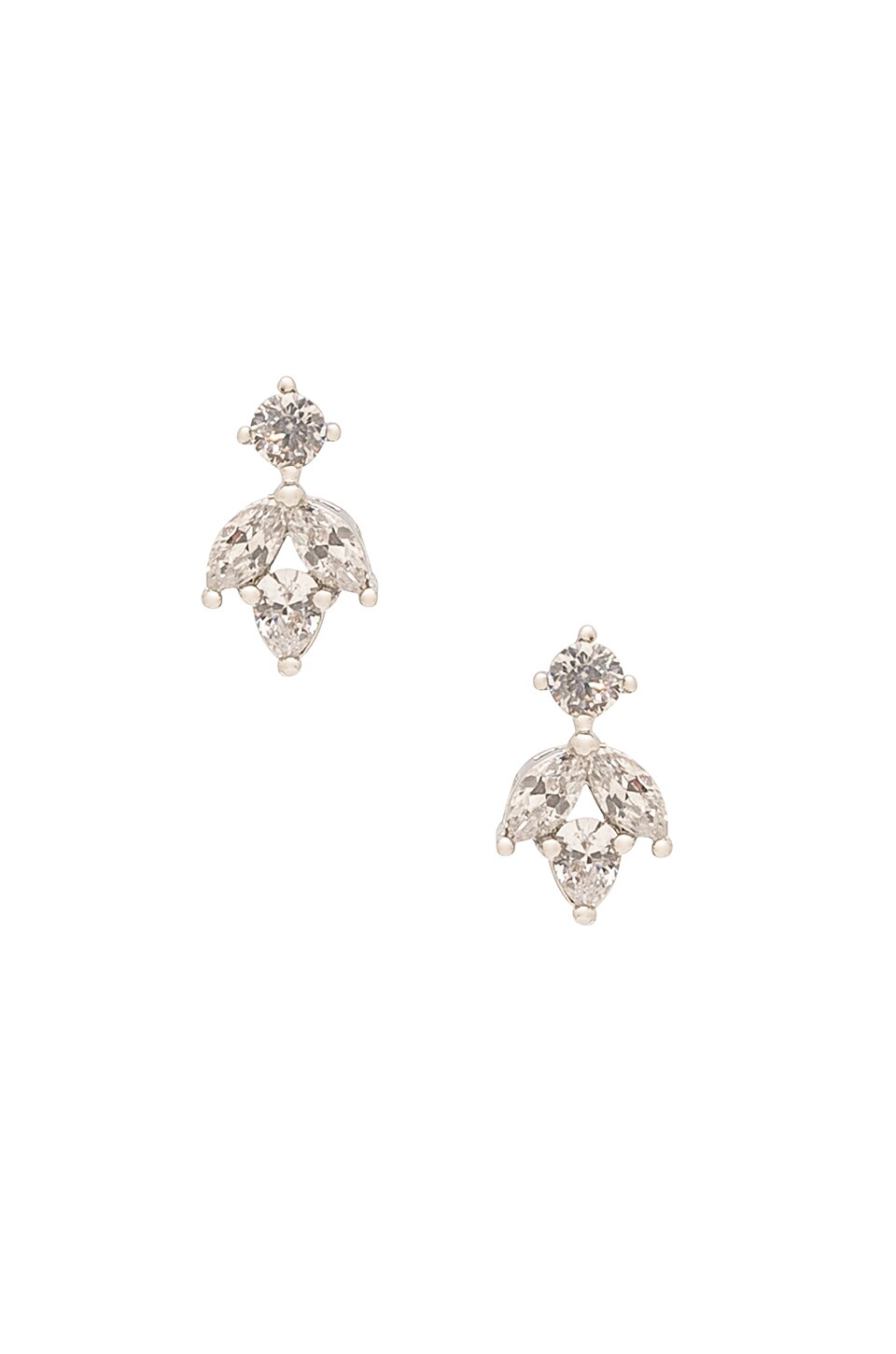 Samantha Wills Orchids Silk Earrings in Metallic Silver