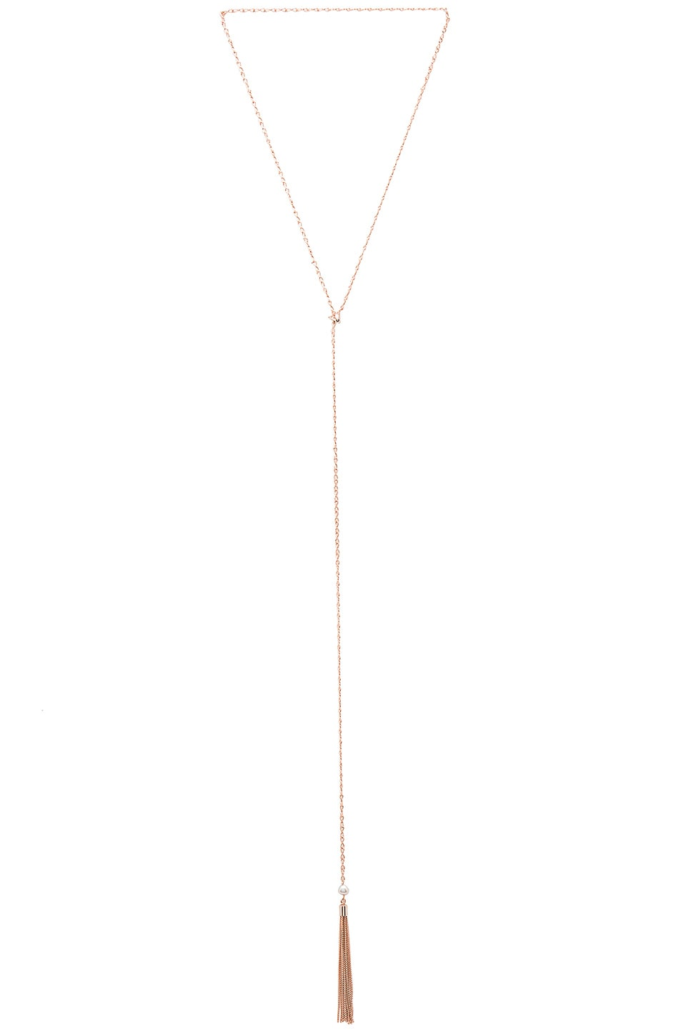 Samantha Wills Before the Sunset Pearl Lariat in Rose Gold
