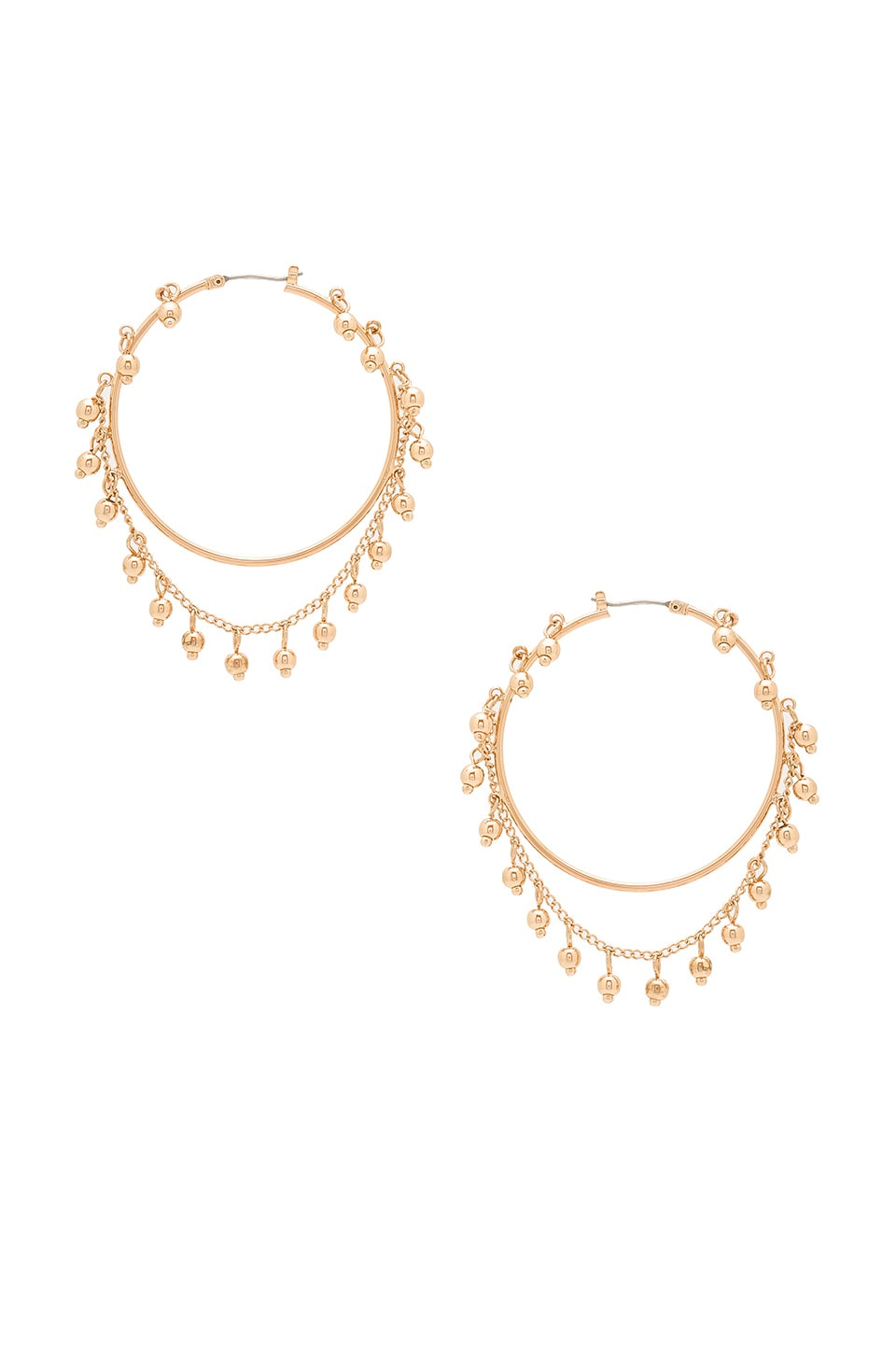 Samantha Wills Nightfall Hoop Earrings in Shiny Gold