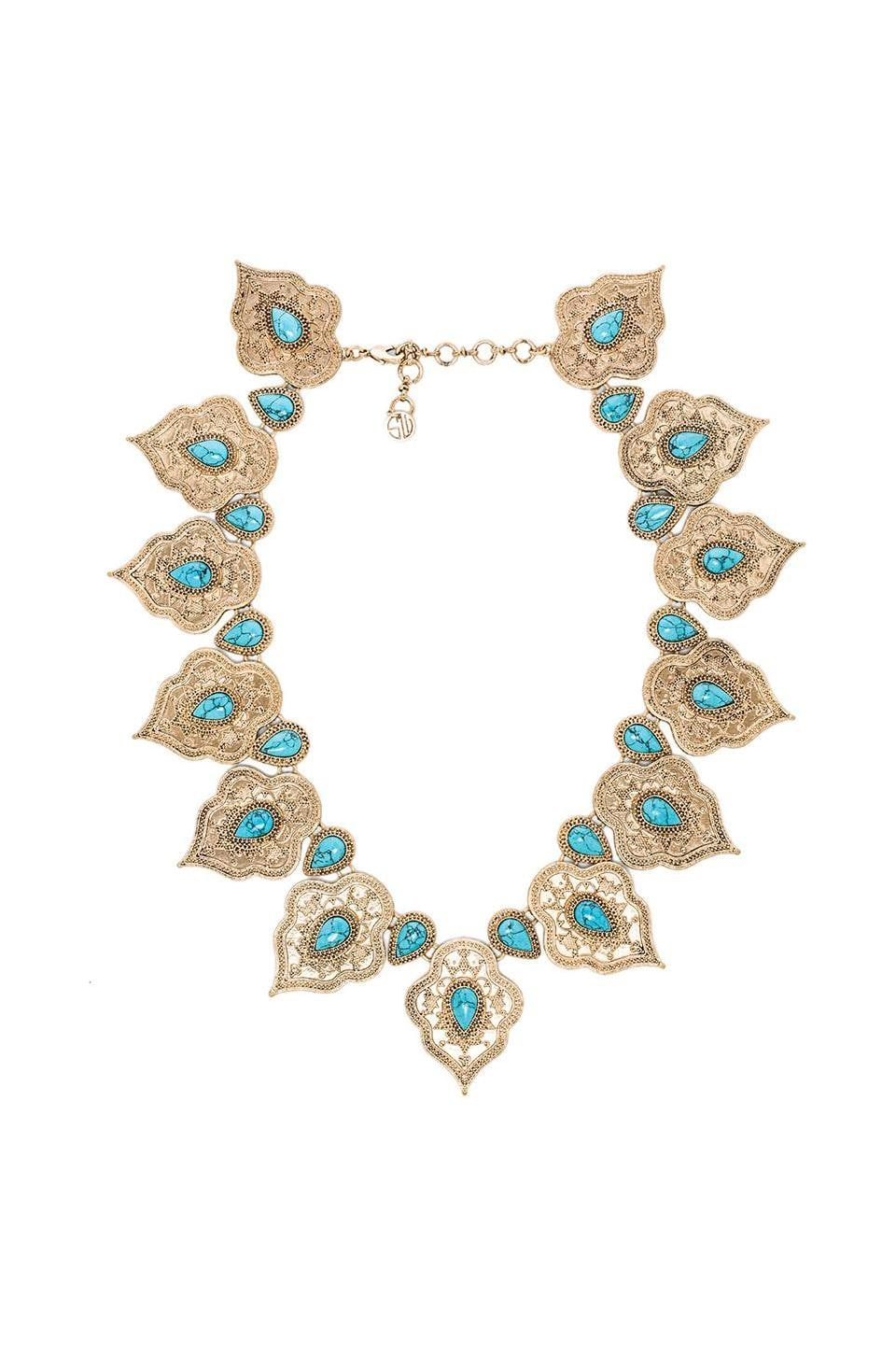 Samantha Wills Lets Get Lost Collar Necklace in Turquoise