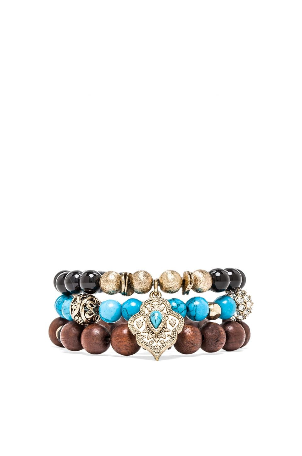 Samantha Wills Running Home Bracelet Set in Turquoise