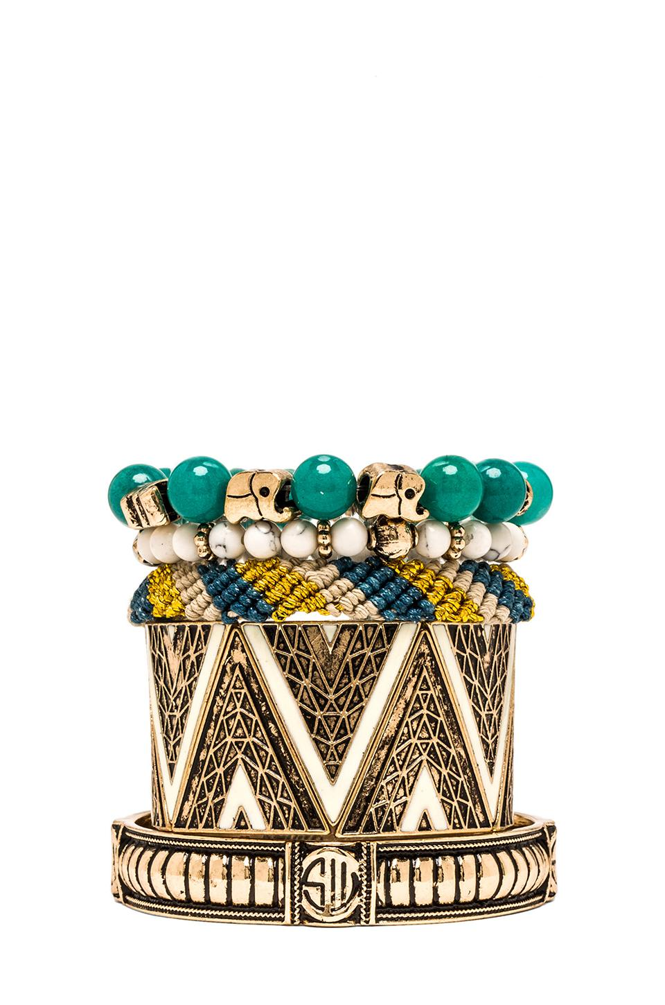 Samantha Wills Tribal Dreamer Bracelet Set in Jade