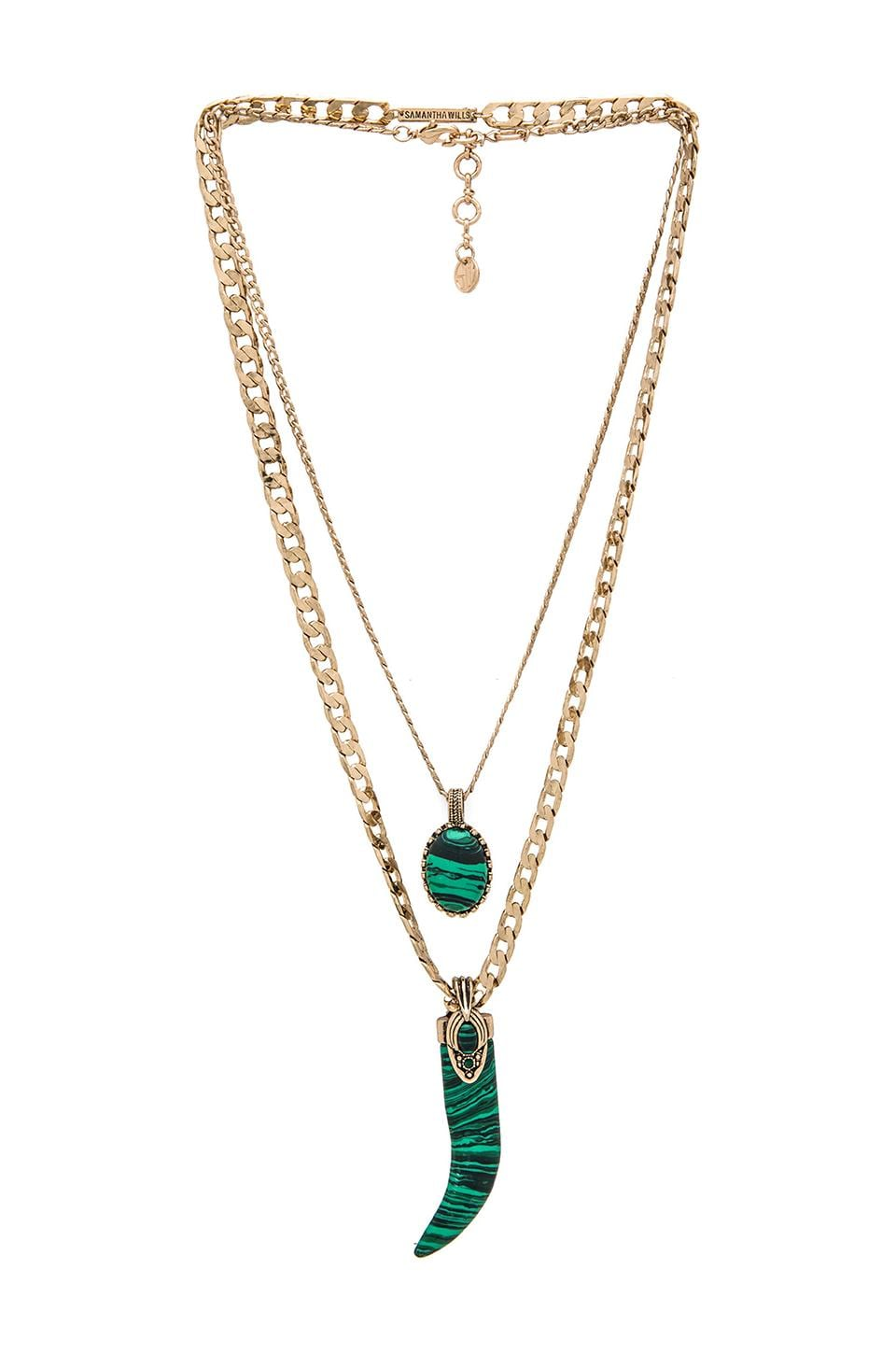 Samantha Wills Enchanted Twilight Layered Necklace in Malachite