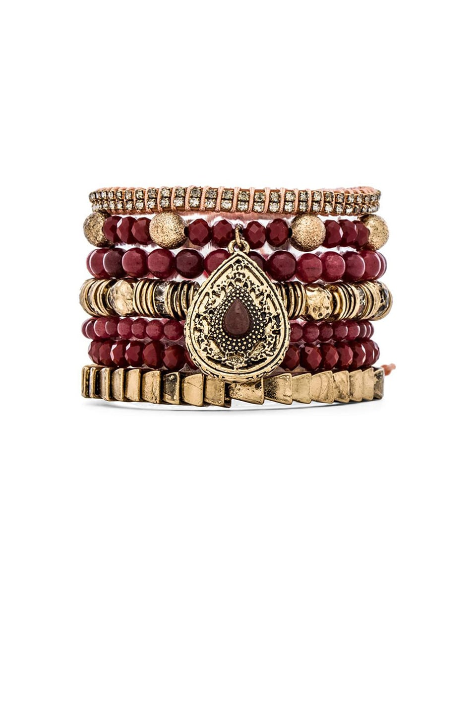 Samantha Wills Maybe Tomorrow Bracelet Set in Burgundy